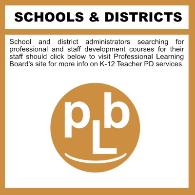 Online Professional Development Courses for K-12 Schools and Districts