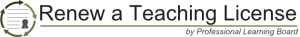 renew a teaching license logo