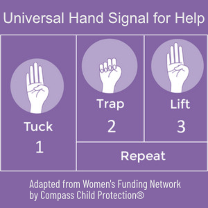Kids Use This Hand Signal For Help